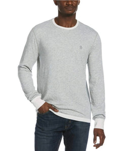 Original Penquin Reversible Long Sleeve Tee- 2 Colors