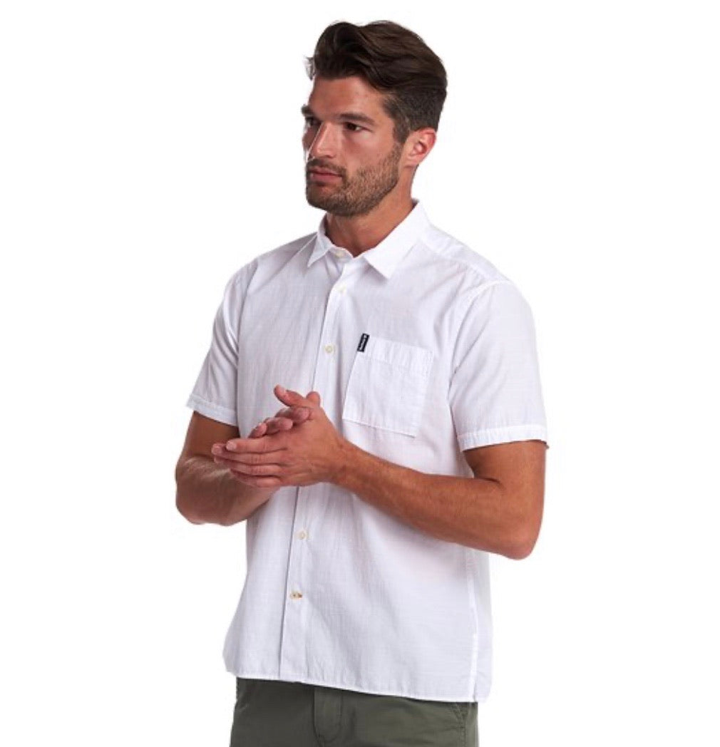 Barbour Seersucker White Short Sleeve