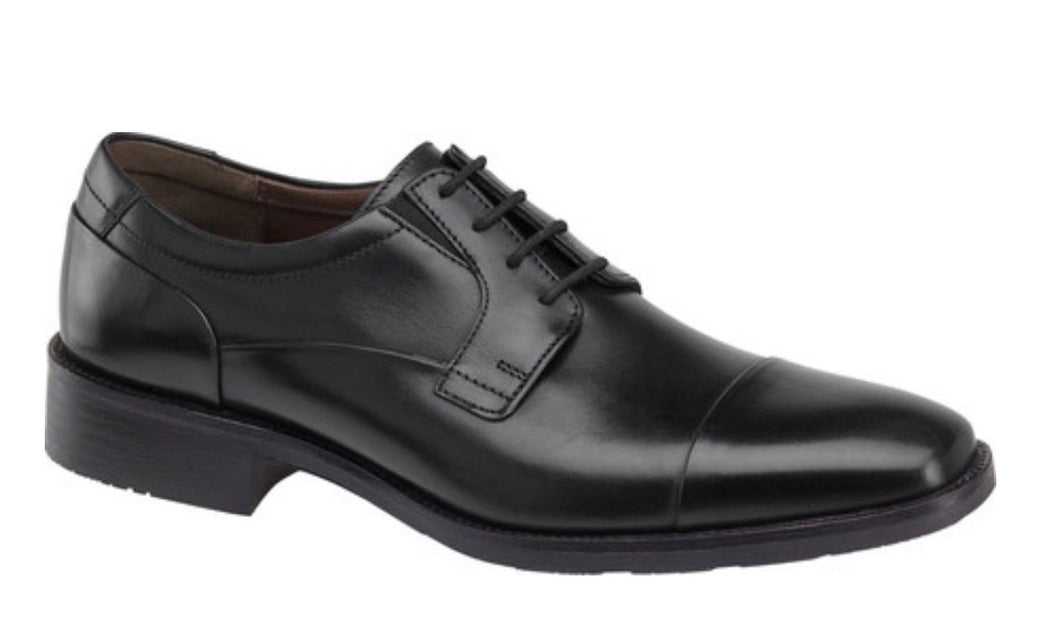 Johnston & Murphy Lancaster Cap-Toe Derby Black