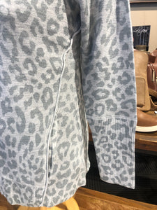 OST Animal Print Zip Up Sweater