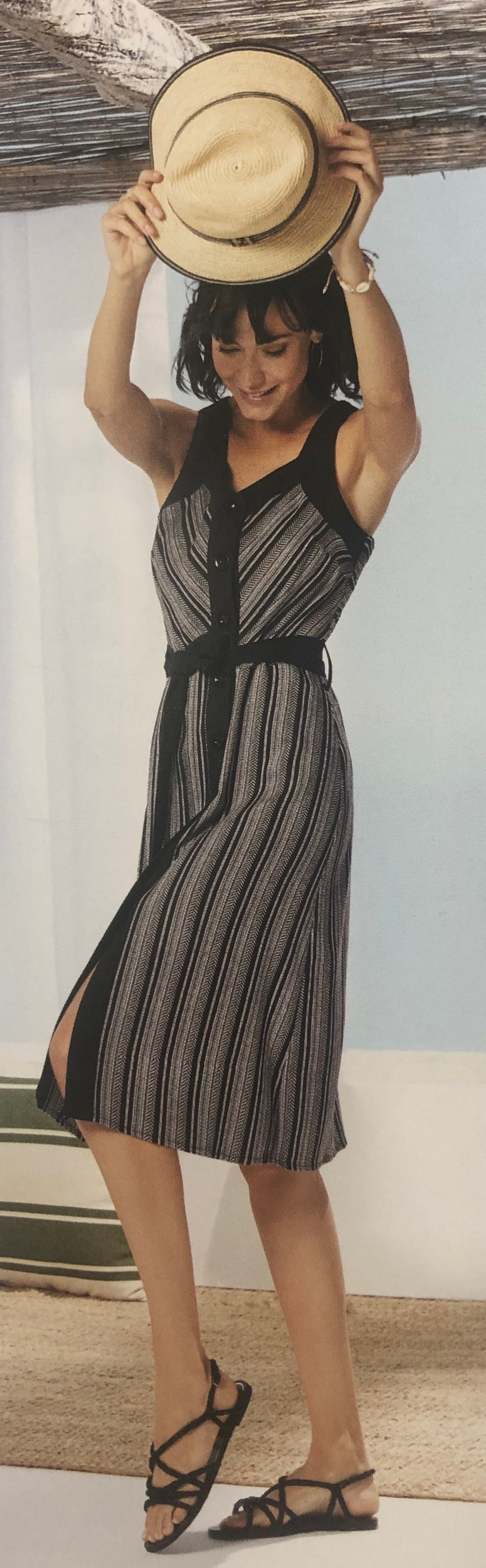 Paz Torras Black and White Print Dress