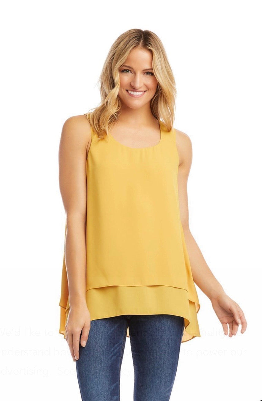 Karen Kane Double Layer Tank- 2 colors