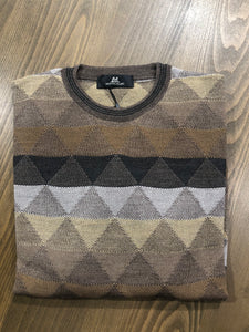 Montechiaro Diamond Pattern Sweater- 2 Colors
