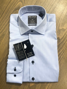 Proper Solid Dress Shirt Dark Buttons - 2 Colors