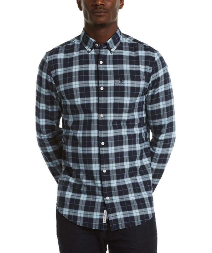 Original Penguin Plaid Oxford