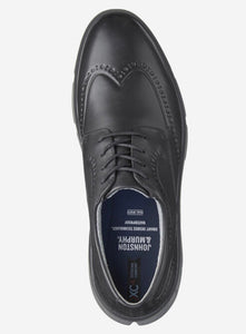 Johnston & Murphy Tanner Black Wingtip