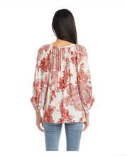 Load image into Gallery viewer, Karen Kane Blouson Peasant Top