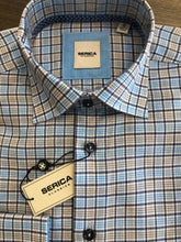 Load image into Gallery viewer, Serica Blue/Tan Check Sport Shirt