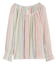 Load image into Gallery viewer, Tommy Bahama Vista Sol Stripe Linen Blend Top