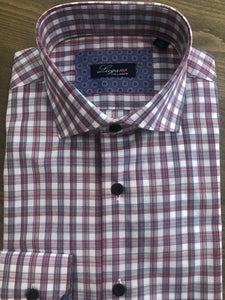 Lugano Red Plaid Sport Shirt