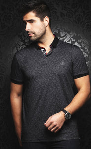 🔥Au Noir Black Mayfield Cotton Polo