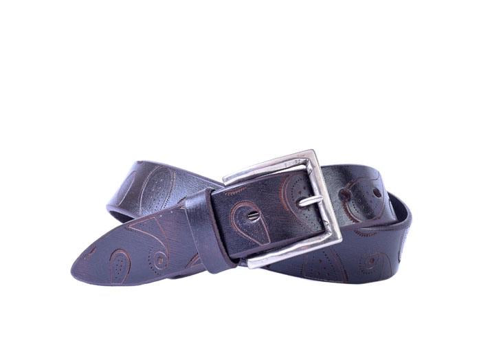 Martin Dingman Artisan Paisley Italian Bridle Leather Belt