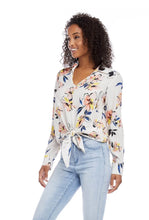 Load image into Gallery viewer, Karen Kane Tie Front Floral Top