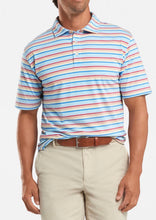 Load image into Gallery viewer, Peter Millar Palm Cove Aqua Cotton Polo