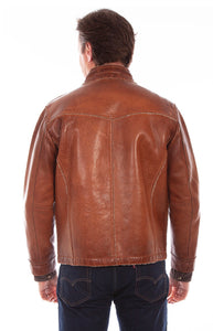 Scully Front Zip Faux Fur Lined Leather Jacket