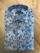 Load image into Gallery viewer, Kolte Blue Floral Sport Shirt