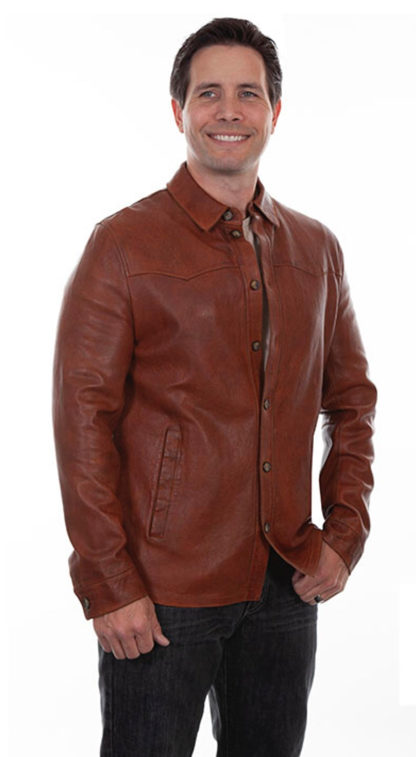 Scully Leather Shirt Jacket