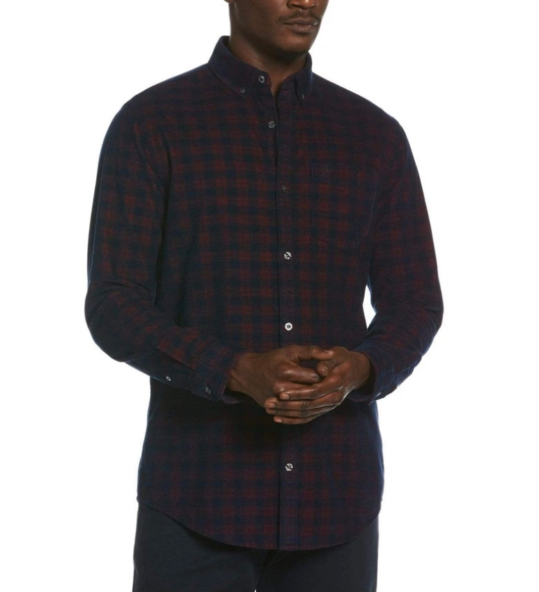 Original Penguin Plaid Corduroy Shirt