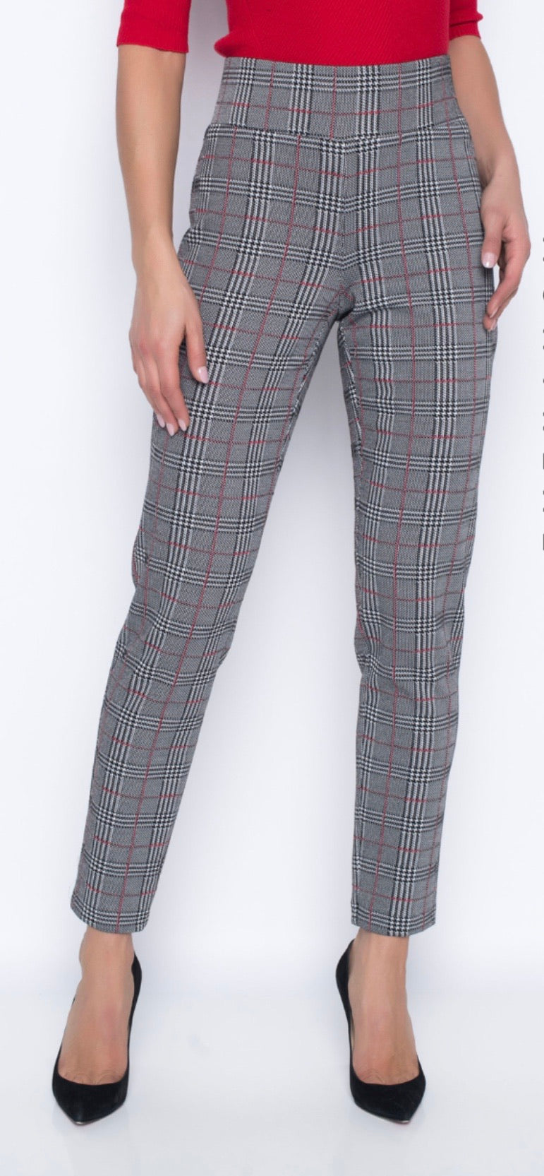 Frank Lyman Black Red Plaid Pant