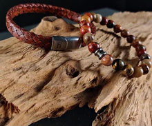 Load image into Gallery viewer, Steel & Barnett Leather Bracelet Riley