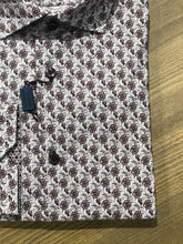 Load image into Gallery viewer, Blu by Polifroni Maroon Floral Pattern Sport Shirt