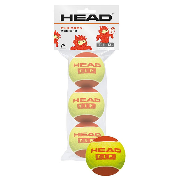 T.I.P. Red - 3 Ball polybag - Head Sport