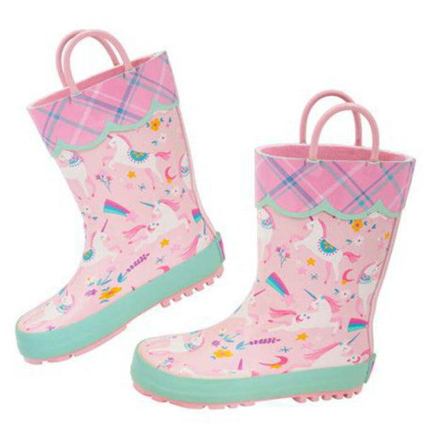 Size 7: Stephen Joseph All Over Print NEW Rain Boots - Unicorn