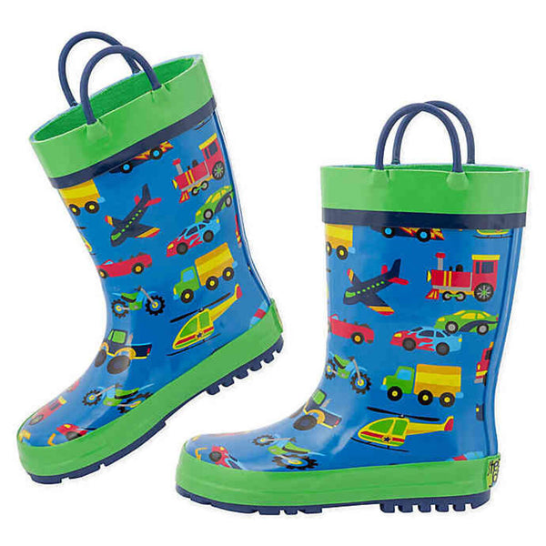 Stephen Joseph All Over Print Rainboots - Transportation 12T