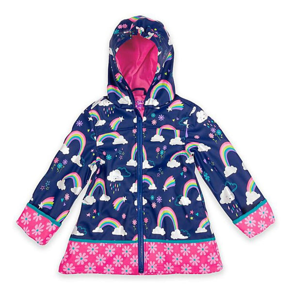 Stephen Joseph All Over Print Raincoat - Rainbow