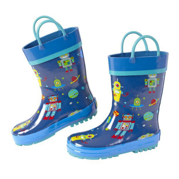 Stephen Joseph All Over Print Rainboots - Robot 8T