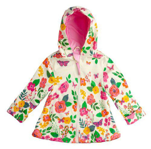 Stephen Joseph Flowers Butterfly Raincoat 4/5 - NEW
