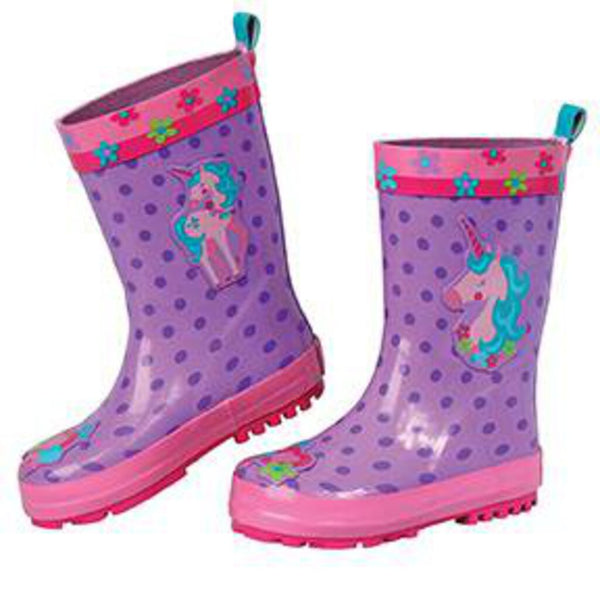 Size 10: Stephen Joseph NEW Rain Boots - Purple Unicorn