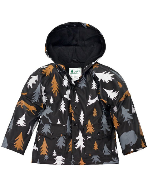 Oaki Wildlife Tracker Lined Snap up Raincoat NEW 8
