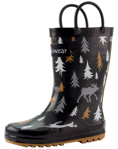 Size 13: Oaki Wildlife Tracker NEW Rain Boots
