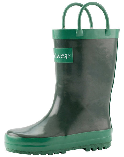 Size 4: Oaki Nature Green Loop Handle NEW Rain Boot