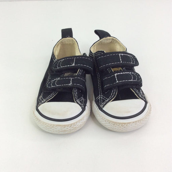 Converse All Star Black and White with Velcro Straps Sneakers 3
