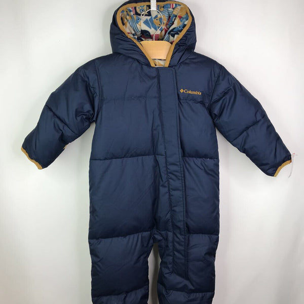 Columbia Navy Partial Fleece Lined DOWN Bunting 18-24m