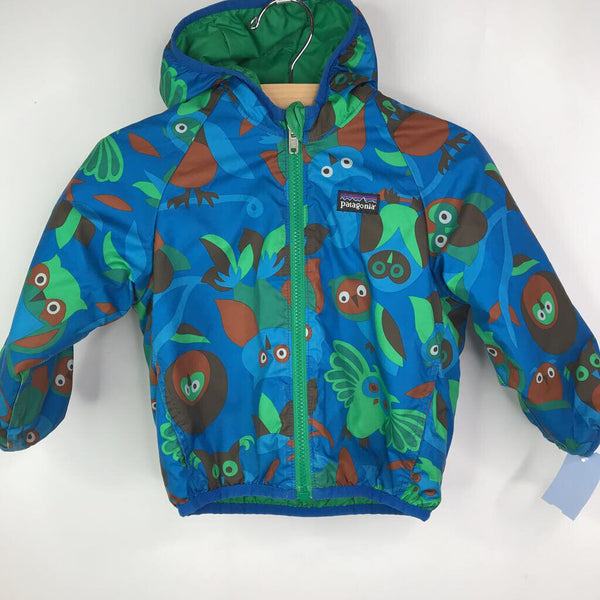 Patagonia Blue/Green/Brown Owls Lightweight Reversible Jacket 2 REDUCED
