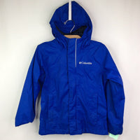 Columbia Omni Tech Blue Mesh Lined Hooded Rain Jacket 4-5 (XXS)
