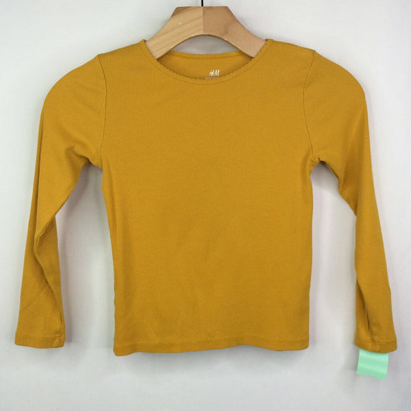 H&M Mustard Ribbed Long Sleeve Shirt 6