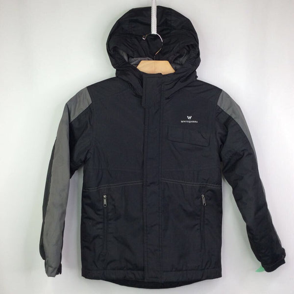 White Sierra Black and Grey Hooded Waterproof Insulated Coat 6-7 (S)
