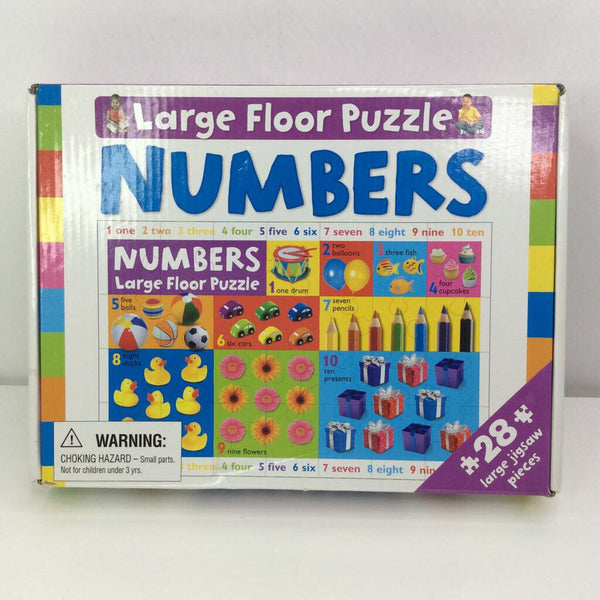 Large Floor Puzzle Numbers 28pc