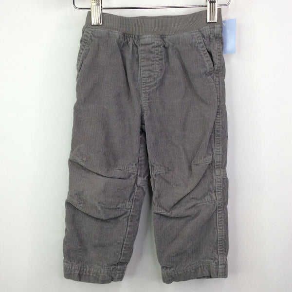 Tea Collection Grey Corduroy Lined Pants 18-24m