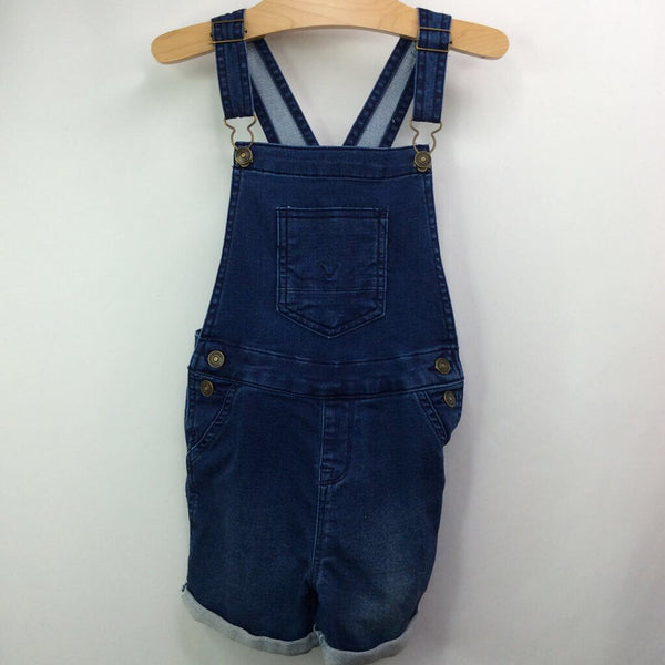 Size 5: Hudson Medium Wash Blue Cut Off Jean Shortalls