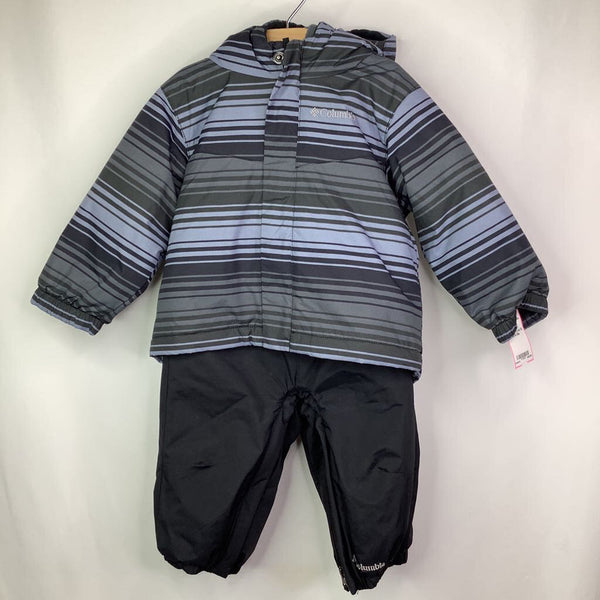 Size 12-18m: Columbia 2pc Gray/Black Coat & Snow Bib