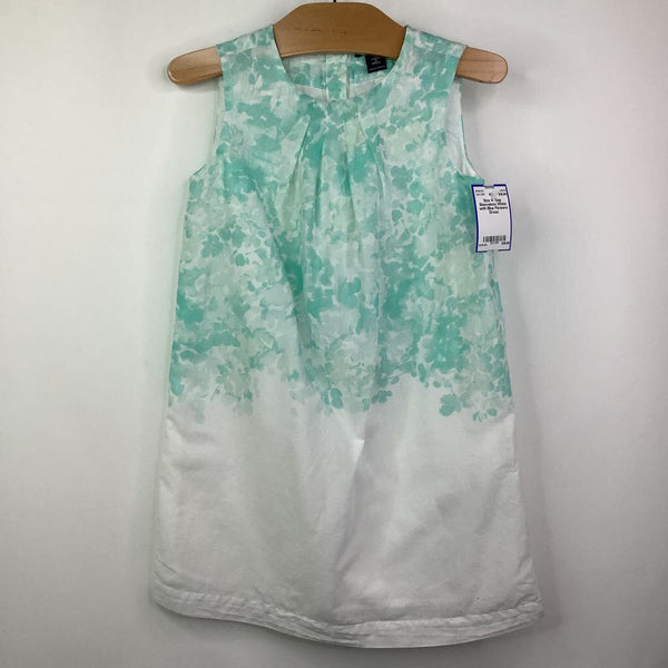 Size 4: Gap Sleeveless White with Blue Flowers Dress