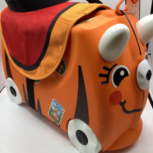 Melissa & Doug Trunki - Orange Tiger w/Saddle Bag & Extra Stickers