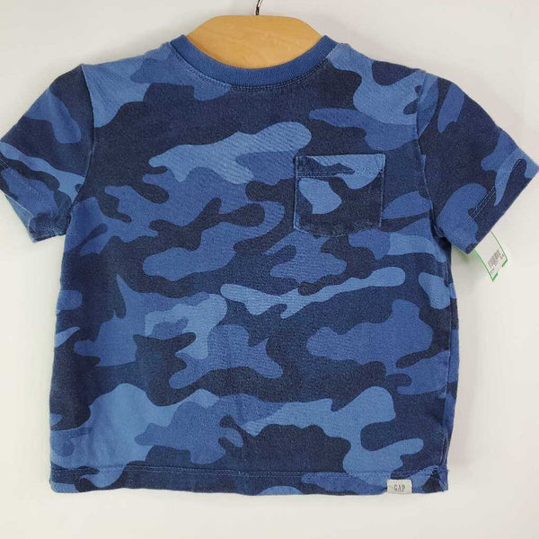 Size 2: Baby Gap Blue Camo Shirt