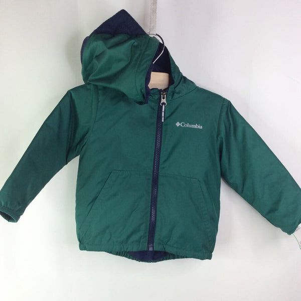 Size 18-24m: Columbia Green Hooded with Dino Spikes Light Coat