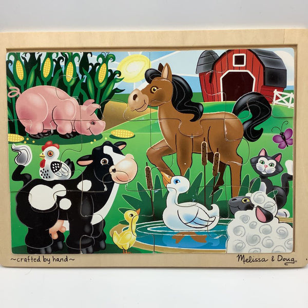 Melissa & Doug On the Farm Wooden Puzzle